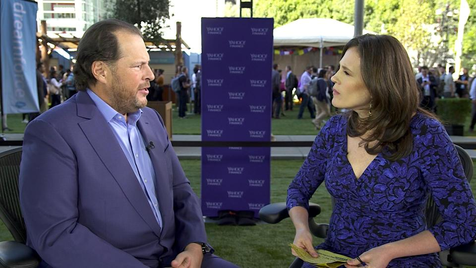 Salesforce.com's Marc Benioff sits down with Yahoo Finance's Nicole Sinclair at Dreamforce 2017