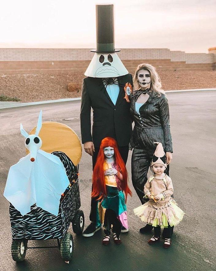 """<p>Creep it real with Sally, Jack Skellington, Zero and the rest of the <em>Nightmare</em> crew. The fun-to-DIY look will have everyone declaring #squadghouls. </p><p><strong>See more at <a href=""""https://www.instagram.com/p/CF4mOjkF9oE/"""" rel=""""nofollow noopener"""" target=""""_blank"""" data-ylk=""""slk:@jessica_michelle_xo"""" class=""""link rapid-noclick-resp"""">@jessica_michelle_xo</a>.</strong></p><p><a class=""""link rapid-noclick-resp"""" href=""""https://www.amazon.com/Straight-Center-Halloween-Cosplay-Warehouse/dp/B01LZD0QR5/ref=sr_1_7?dchild=1&tag=syn-yahoo-20&ascsubtag=%5Bartid%7C10050.g.32906192%5Bsrc%7Cyahoo-us"""" rel=""""nofollow noopener"""" target=""""_blank"""" data-ylk=""""slk:Shop Red Wig"""">Shop Red Wig</a><br></p>"""