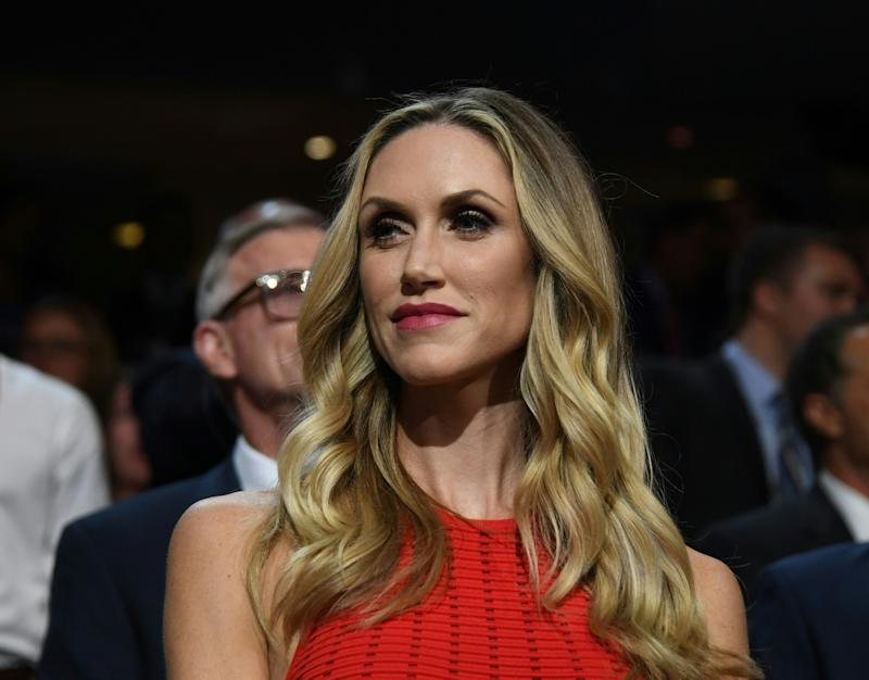 Lara Trump posed for a glam maternity shoot with Hello! magazine. (Photo: Getty Images)