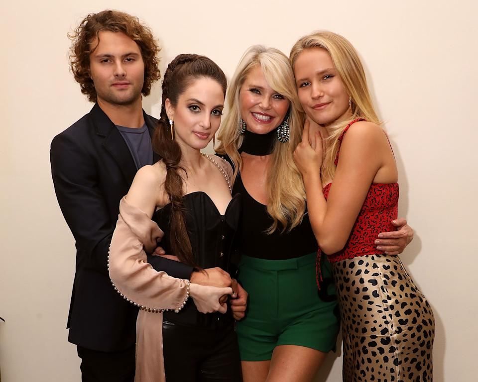 Jack Brinkley-Cook, Alexa Ray Joel, Christie Brinkley and Sailor Lee Brinkley-Cook celebrate the opening night of Alexa's residency at New York's Cafe Carlyle on Sept. 25, 2018. (Photo: Taylor Hill via Getty Images)