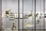 <p>Maquettes from movies including <em>Shrek </em>and <em>Frozen</em> punctuate the Stories of Cinema gallery. </p>