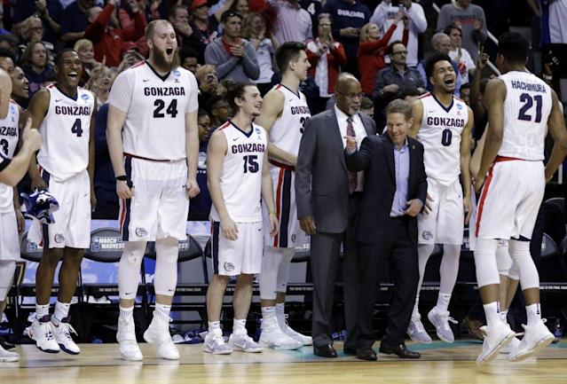Gonzaga is moving on to the Final Four. (AP Photo/Ben Margot)