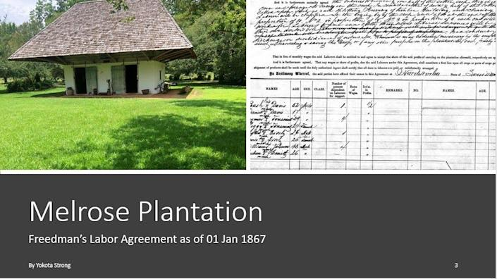 Genealogist Yokota Strong said he was surprised to learn that two of his former enslaved great-grandfathers were sharecroppers at a Black-owned Melrose Plantation in Louisiana.  Credit: Ancestry.com