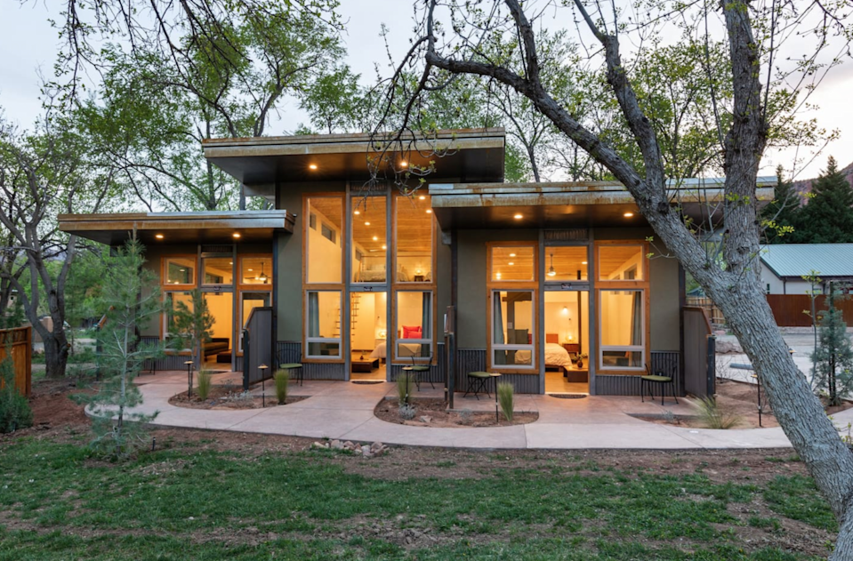 """<h2>Zion National Park, Utah</h2><br><strong>Location: </strong>Springdale, Utah<br><strong>Sleeps: </strong>2<br><strong>Price Per Night: </strong><a href=""""https://airbnb.pvxt.net/a1NkAb"""" rel=""""nofollow noopener"""" target=""""_blank"""" data-ylk=""""slk:$249"""" class=""""link rapid-noclick-resp"""">$249</a><br><br>""""These brand new Suites are within the gorgeous Nama-Stay property in Springdale UT, 5 minutes away from the Zion National Park entrance. These charming Suites becomes your sanctuary space during your time visiting. 5 min. away from the South entrance Zion National Park, walking distance to local restaurants, gift shops, adventure activities. A perfect getaway for couples.""""<br><br><h3><a href=""""https://airbnb.pvxt.net/a1NkAb"""" rel=""""nofollow noopener"""" target=""""_blank"""" data-ylk=""""slk:Book Nama-Stay Suites"""" class=""""link rapid-noclick-resp"""">Book Nama-Stay Suites</a></h3><span class=""""copyright"""">Photo: Courtesy of Airbnb.</span>"""