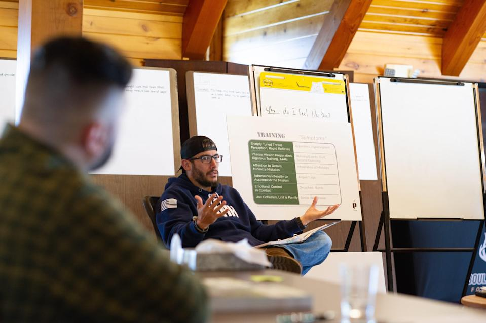 Ian Ricci, 39, is an Army veteran who battled through PTSD to achieve post-traumatic growth, regaining a purpose and positivity about life that now has him helping other veterans as part of the Boulder Crest Institute for Posttraumatic Growth.