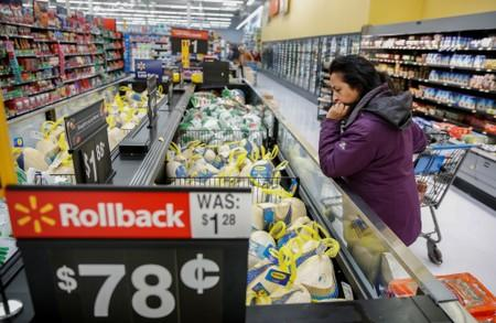 FILE PHOTO: Shoppers at a Walmart store in Chicago Illinois