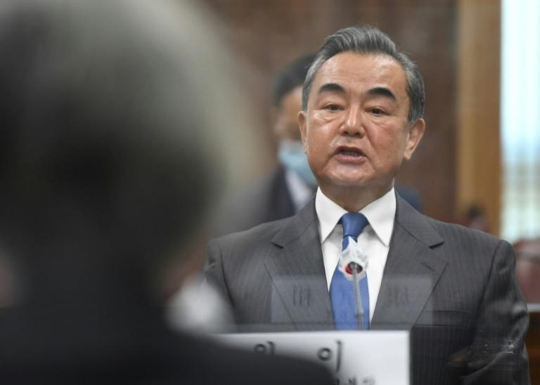 Chinese Foreign Minister Wang Yi, seen on a November 2020 visit to Seoul, has appealed for cooperation with US President-elect Joe Biden