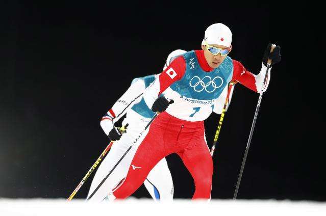 Nordic Combined Events - Pyeongchang 2018 Winter Olympics - Men's Individual 10 km Final - Alpensia Cross-Country Skiing Centre - Pyeongchang, South Korea - February 20, 2018 - Akito Watabe of Japan in action. REUTERS/Dominic Ebenbichler