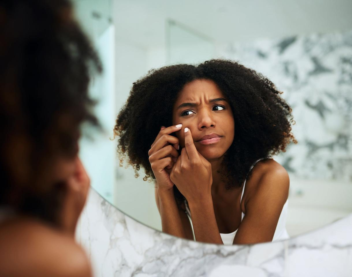 """<p>Because of darker skin's ability to hold onto pigment, using acne treatments that include ingredients that are too harsh - like retinol, benzoyl peroxide, or salicylic acid - may result in <em>more</em> inflammation and potential scarring.</p> <p>""""We hold onto brown-colored blemishing like a sponge, which is why we need to rely on medications and treatments that not only are anti-inflammatory to treat active acne, but also implement ingredients that brighten and lighten the skin,"""" <a href=""""https://springstderm.com/physicians/rita-linkner/"""" target=""""_blank"""" class=""""ga-track"""" data-ga-category=""""Related"""" data-ga-label=""""https://springstderm.com/physicians/rita-linkner/"""" data-ga-action=""""In-Line Links"""">Dr. Rita Linkner, MD</a>, of <a href=""""https://springstderm.com/"""" target=""""_blank"""" class=""""ga-track"""" data-ga-category=""""Related"""" data-ga-label=""""https://springstderm.com/"""" data-ga-action=""""In-Line Links"""">Spring Street Dermatology</a> in New York City, told POPSUGAR. For this reason, people with darker skin have to be a little more particular about their acne treatment products.</p>"""