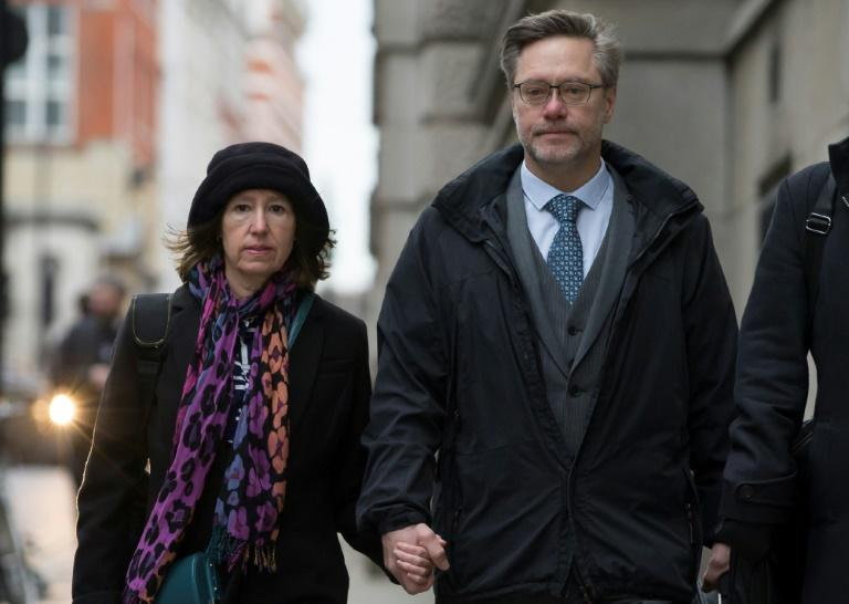 "Briton Sally Lane (L) and Canadian John Letts (R), parents of Jack Letts the Muslim convert known as ""Jihadi Jack"",  were convicted in a UK court in June of funding terrorism by sending him a small amount of money during his time in Syria, but were spared jail"