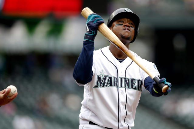 """<a class=""""link rapid-noclick-resp"""" href=""""/mlb/teams/seattle/"""" data-ylk=""""slk:Mariners"""">Mariners</a> infielder <a class=""""link rapid-noclick-resp"""" href=""""/mlb/players/8691/"""" data-ylk=""""slk:Tim Beckham"""">Tim Beckham</a> has been suspended for 80 games. (Jennifer Buchanan/USA Today Sports)"""
