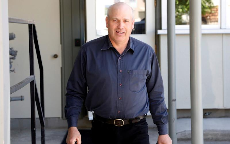 James Oler leaves the court house after a Canadian judge found the former member of a breakaway religious sect guilty of practicing polygamy, in Cranbrook - Credit: Reuters