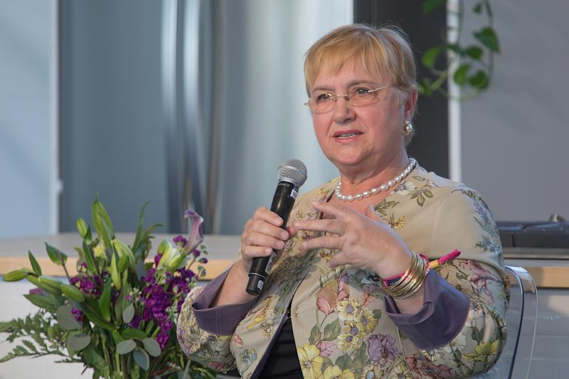 AUSTIN, TX - APRIL 28: Chef Lidia Bastianich talks during the Austin FOOD & WINE Festival at Auditorium Shores on April 28, 2018 in Austin, Texas. (Photo by Rick Kern/WireImage)