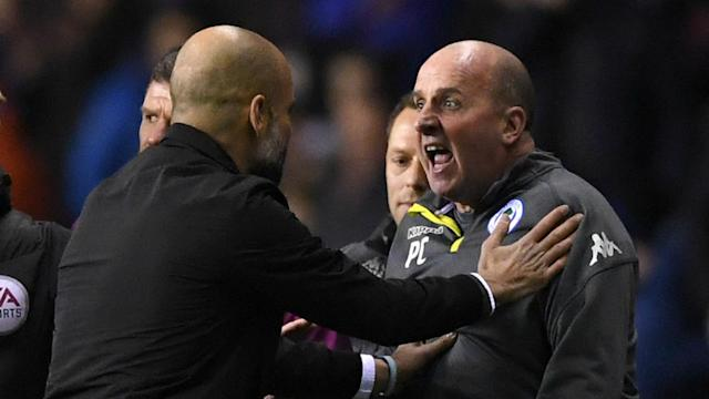 The striker, who is considering legal action against a Wigan fan, will not face any action for his role in a fracas, but both clubs have been charged