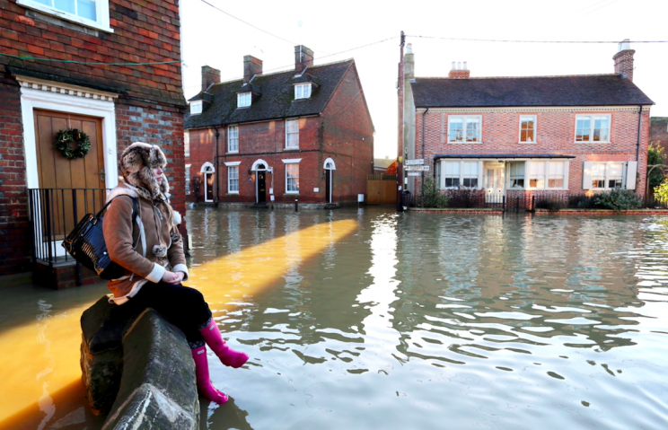 The UK saw extensive flooding in winter 2014 (Rex)