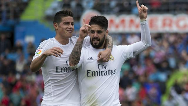 Isco's Barcelona faux-pas on social media amused Real Madrid boss Zinedine Zidane, who insists he has no problems with James Rodriguez.