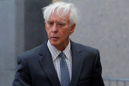 "Professional sports gambler William ""Billy"" Walters departs Federal Court after a hearing in Manhattan, New York"