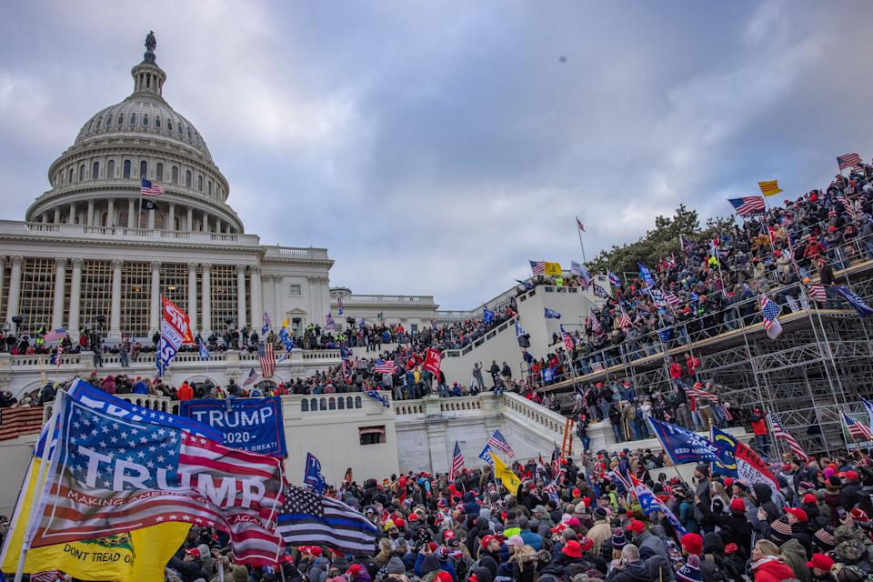 Supporters of then-President Donald Trump storm the U.S. Capitol on Jan. 6. (Photo: Evelyn Hockstein for The Washington Post via Getty Images)