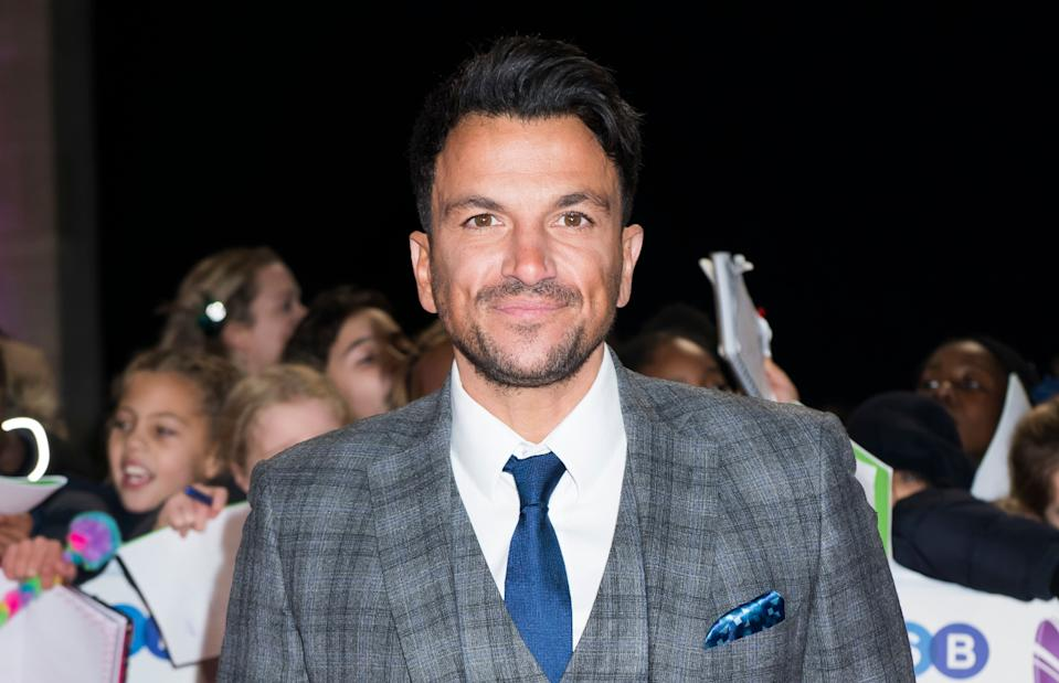 Peter Andre arrives at the Daily Mirror Pride of Britain Awards 2018, at the Grosvenor Hotel, London. (Credit: David Jensen/ EMPICS Entertainment)