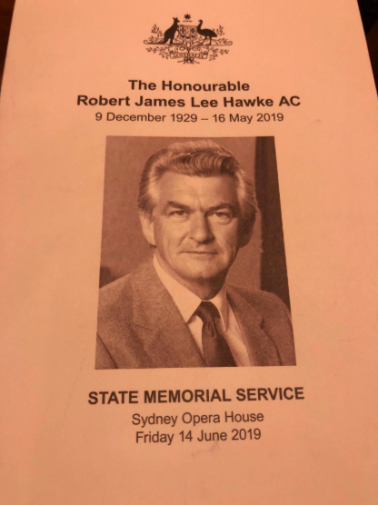 The memorial booklet for the service. Source: NSW Unions