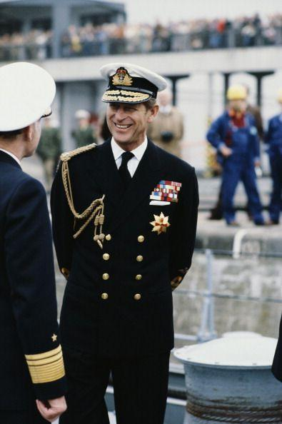 <p>The Duke of Edinburgh in the uniform of the Admiral of the Fleet in Bremerhaven, Germany in May 1978.</p>