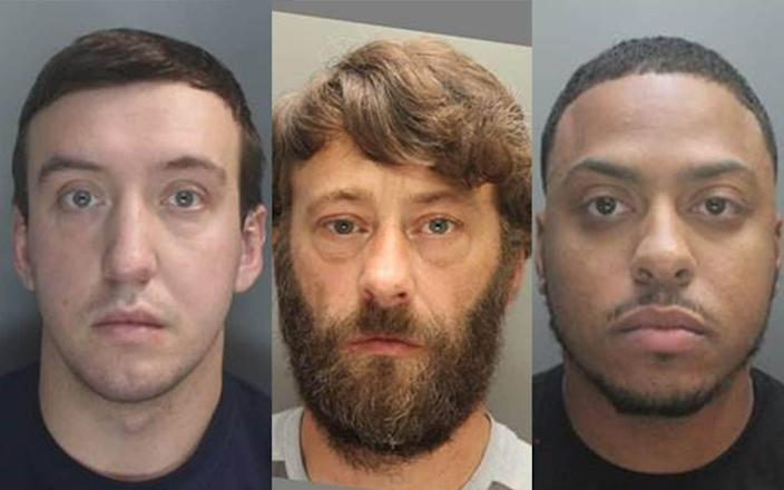 Jack Jones, Paul Jones, and Isaac Rasmussen, who have all been jailed after a drug smuggling operation - PA