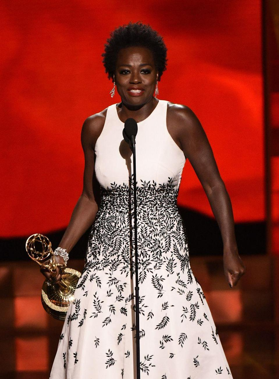 <p>It's crazy to think that it took until 2015 for a woman of color to win an Emmy for Best Actress in a Drama, but it did. That year, Viola Davis won and made a beautiful speech where she quoted Harriet Tubman, spoke up about the lack of roles for women of color, and made everyone cry. </p>