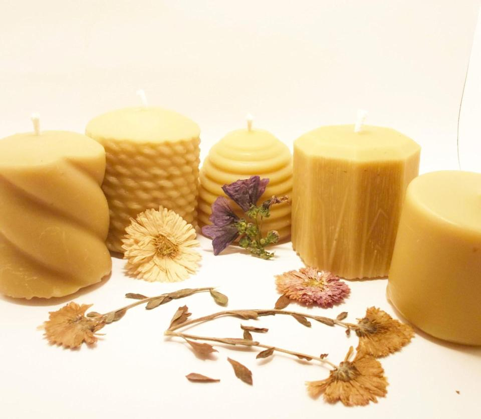 <p>Gift them something that stands out with these handmade <span>Beeswax Candles</span> ($29).</p>