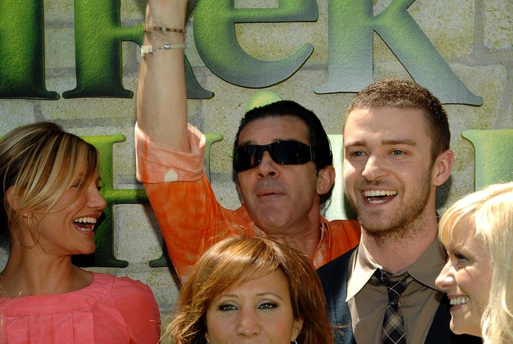 "Cameron Diaz, Antonio Banderas, and Justin Timberlake can't stop laughing at the ""Shrek the Third"" premiere. Lester Cohen/<a href=""http://www.wireimage.com"" target=""new"">WireImage.com</a> - May 6, 2007"