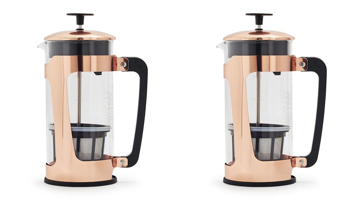 A copper French press belongs on your kitchen counter.