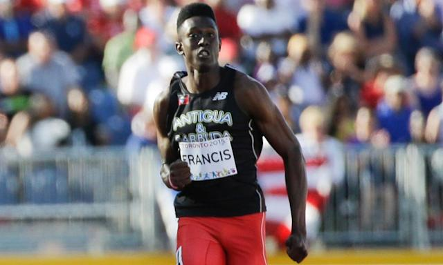 "<span class=""element-image__caption"">Miguel Francis, running for Antigua and Barbuda in the men's 200m semi-final at the Pan Am Games.</span> <span class=""element-image__credit"">Photograph: Mark Humphrey/AP</span>"
