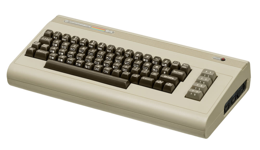 <p>Launched in 1982, the C64 would go on to become the highest selling computer model of all time. It was named after the 64 kilobytes of RAM on board, giving it better graphics than earlier models. It was finally killed off in 1992. (Evan-Amos/Wikipedia) </p>