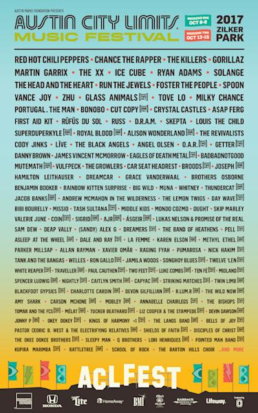 The Killers, Run the Jewels, Red Hot Chili Peppers, Solange, and more also on the bill