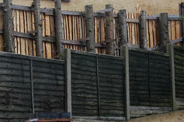 Rear of fence