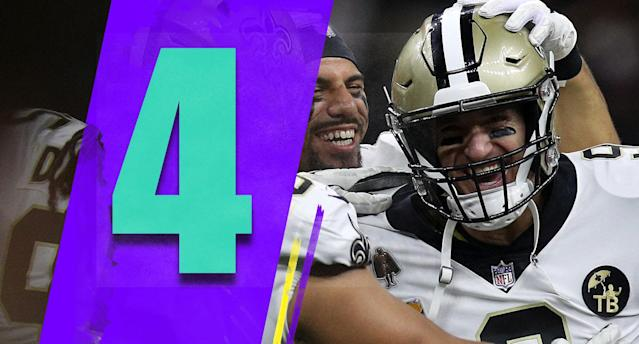 <p>The Bucs are slumping. The Falcons won Sunday, but they're 2-4 with a bad defense. The Panthers lost a winnable game at Washington. All of a sudden the Saints are looking like a heavy favorite in the NFC South. (Drew Brees) </p>