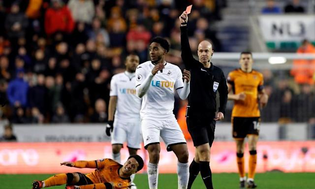 Rúben Vinagre and Leroy Fer see red as Wolves and Swansea play out stalemate