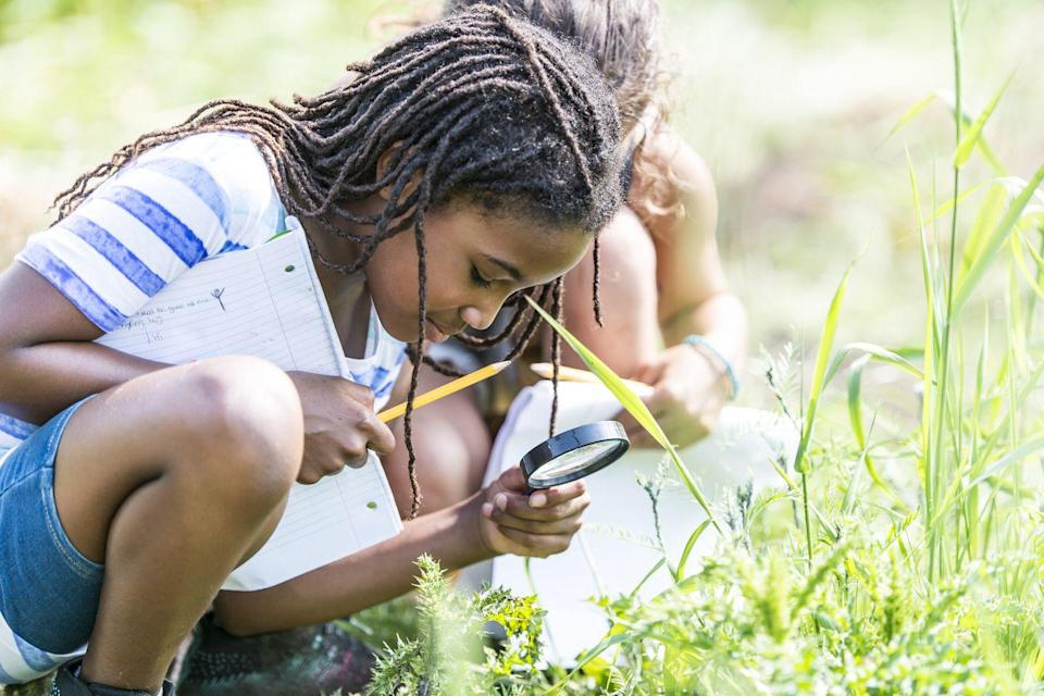 """<p>Rainy and cold weather will be here soon enough, so why not ease into the new school year and enjoy the warm weather that remains by moving some lessons outdoors. """"These probably won't be the hardest or most intense lessons of the year, so if your child is a bit distracted, it won't be the end of the world,"""" says Theresa Bertuzzi, co-founder of the international early learning center <a href=""""https://www.tinyhoppers.ca/"""" rel=""""nofollow noopener"""" target=""""_blank"""" data-ylk=""""slk:Tiny Hoppers"""" class=""""link rapid-noclick-resp"""">Tiny Hoppers</a>. """"This should also give your child positive vibes about school. If they're happy during school hours, subconsciously, they might actually start to enjoy the whole idea of it — making the rest of the year just a bit easier.""""</p>"""