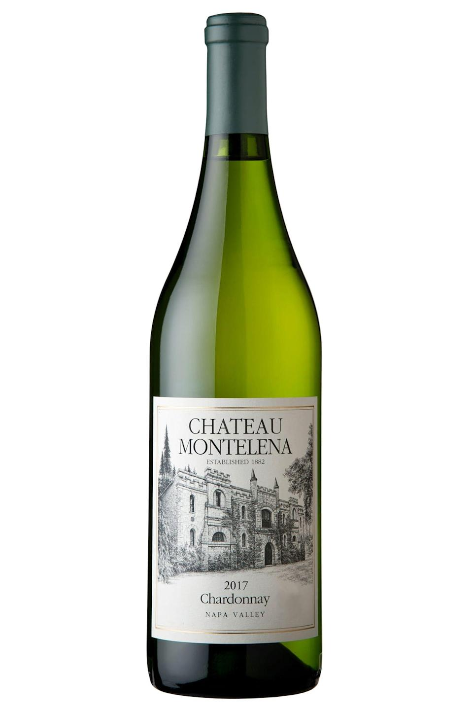 """<p>wine.com</p><p><strong>$49.99</strong></p><p><a href=""""https://go.redirectingat.com?id=74968X1596630&url=https%3A%2F%2Fwww.wine.com%2Fproduct%2Fchateau-montelena-napa-valley-chardonnay-2017%2F571795&sref=https%3A%2F%2Fwww.redbookmag.com%2Ffood-recipes%2Fg35180620%2Fbest-valentines-day-wine%2F"""" rel=""""nofollow noopener"""" target=""""_blank"""" data-ylk=""""slk:Shop Now"""" class=""""link rapid-noclick-resp"""">Shop Now</a></p><p>What better to celebrate a romance for the history books than the chardonnay that put Napa Valley on the map? Filled with the flavors of ripe core fruit and a whiff of floral, its creaminess would be a lovely foil to Valentine's confections. <br></p>"""