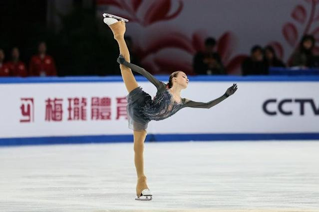 Fast-rising Anna Shcherbakova of Russia skated to gold in the ISU Grand Prix Cup of China (AFP Photo/STR)