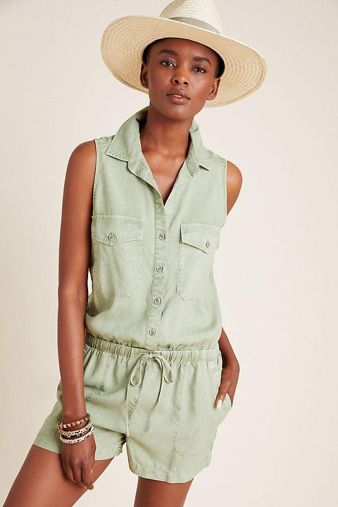 """<p>Stay cool on hot days in this <a href=""""https://www.popsugar.com/buy/Cloth-amp-Stone-Bette-Utility-Romper-579199?p_name=Cloth%20%26amp%3B%20Stone%20Bette%20Utility%20Romper&retailer=anthropologie.com&pid=579199&price=130&evar1=fab%3Aus&evar9=47524904&evar98=https%3A%2F%2Fwww.popsugar.com%2Ffashion%2Fphoto-gallery%2F47524904%2Fimage%2F47525084%2FCloth-Stone-Bette-Utility-Romper&list1=shopping%2Cjumpsuits%2Cfashion%20shopping%2Crompers%2Ccomfortable%20clothes&prop13=mobile&pdata=1"""" class=""""link rapid-noclick-resp"""" rel=""""nofollow noopener"""" target=""""_blank"""" data-ylk=""""slk:Cloth &amp; Stone Bette Utility Romper"""">Cloth &amp; Stone Bette Utility Romper</a> ($130).</p>"""