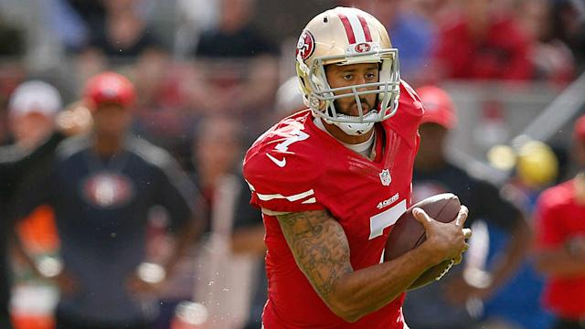 The Ravens coach said the reasons why the former 49ers quarterback remains unsigned are more nuanced.