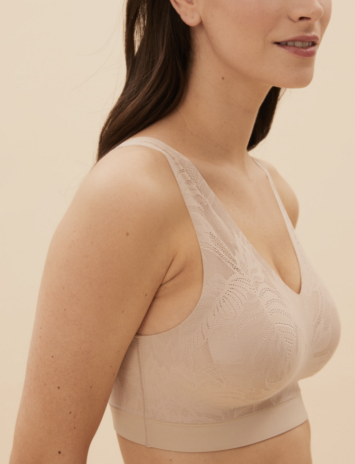 The comfortable crop top now comes with a fancy lace finish. (Marks & Spencer)