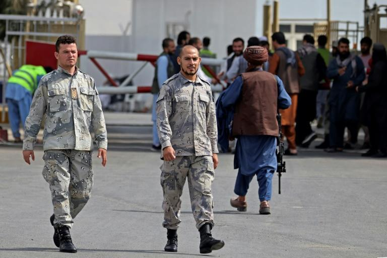 The Taliban say they have granted a general amnesty to everyone who worked for the former government -- including the army, police and other security branches (AFP/Karim SAHIB)