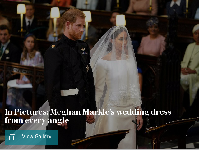In Pictures: Meghan Markle's wedding dress