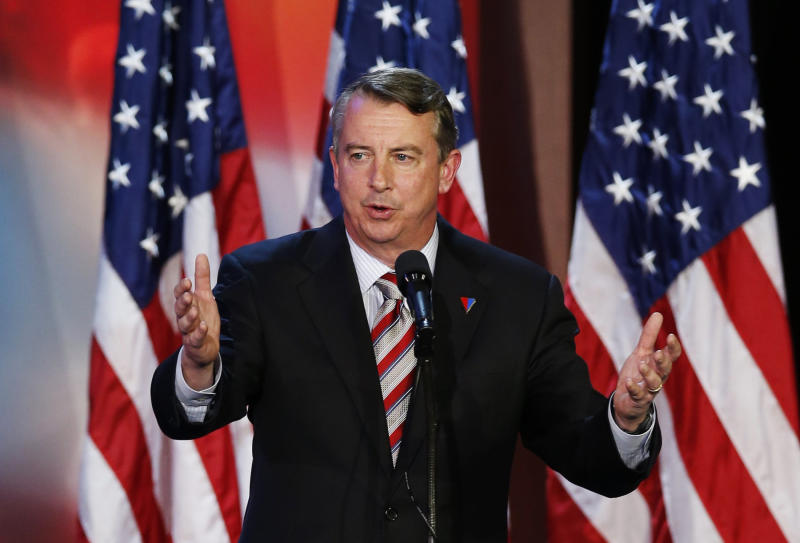 Republican Ed Gillespie initially said he opposed the Graham-Cassidy bill, but walked it back shortly after the debate on Tuesday night. (Mike Segar / Reuters)