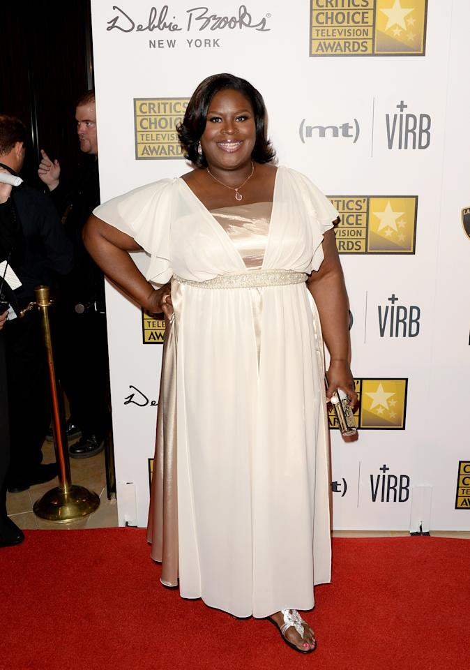 LOS ANGELES, CA - JUNE 10: Host Retta arrives at Broadcast Television Journalists Association's third annual Critics' Choice Television Awards at The Beverly Hilton Hotel on June 10, 2013 in Beverly Hills, California.  (Photo by Jason Merritt/Getty Images)