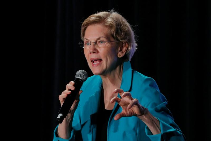 "Democratic 2020 U.S. presidential candidate Warren speaks at the ""We The People 2020"" forum in Des Moines"
