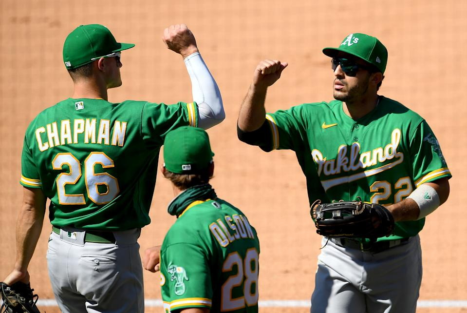 The A's are already leading the AL West, but can they hang with the Yankees? (Photo by Jayne Kamin-Oncea/Getty Images)