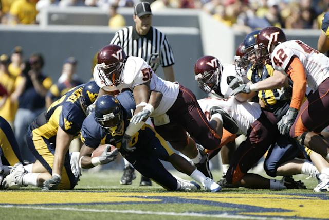 Virginia Tech and West Virginia haven't played since Oct. 1, 2005. Virginia Tech won 34-17. (Getty)
