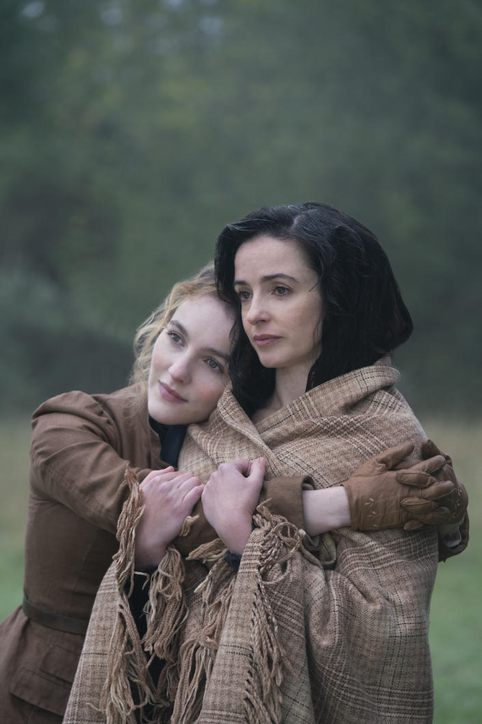 Laura Donnelly as Amalia True and Ann Skelly as Penance Adair in The Nevers. (HBO)
